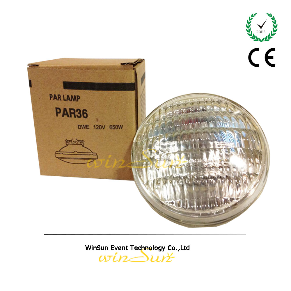 winSune Blinder Lamp DWE PAR36 650 w 120v AC Lamp Replace GE Light For Blinders For Stage Light Front Surface(China (Mainland))