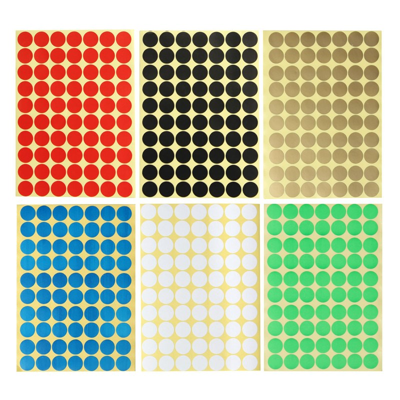 15Pcs Circles Round Coloured Code 70 Dots Stickers Self Adhesive Sticky Spot Labels For Crafts Reward Charts DIY Scrapbook 19mm(China (Mainland))