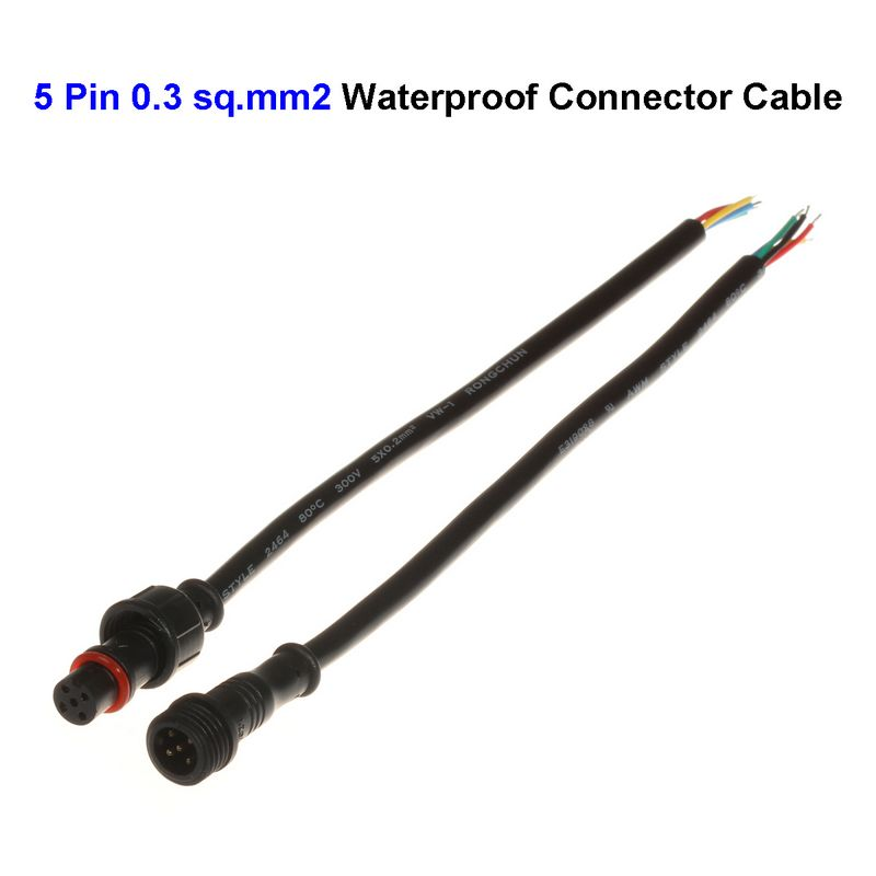 5 Pin Connector Cable : Aliexpress buy new pin male female plug waterproof