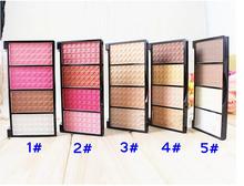 1 Palette 4 Colors Makeup Foundation Blush Bronzer Contour Highlight Shading Powder Beauty Nude Makeup Set(China (Mainland))