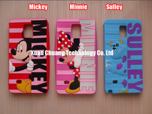3D Cute Curtains with Mickey Minnie Sulley Silicon Cases Shields Covers Skins Housings for Samsung Galaxy Note 4 & Freeshipping(China (Mainland))
