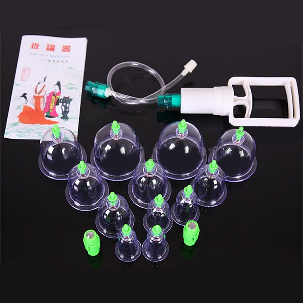 12 Pcs 1 Set Convenient Troditional Chinese Treatment TCM vaccum Cupping Device Safe No Side-Effect(China (Mainland))