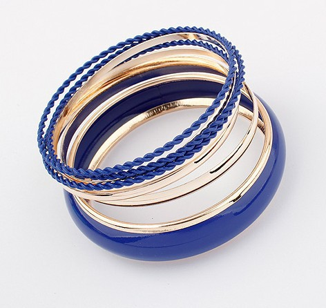Promotion 2014 New Fashion Europe Style Colorfull Simple multi-layer Cuff bracelet Bangle Women Party Jewelry - Top Shop store