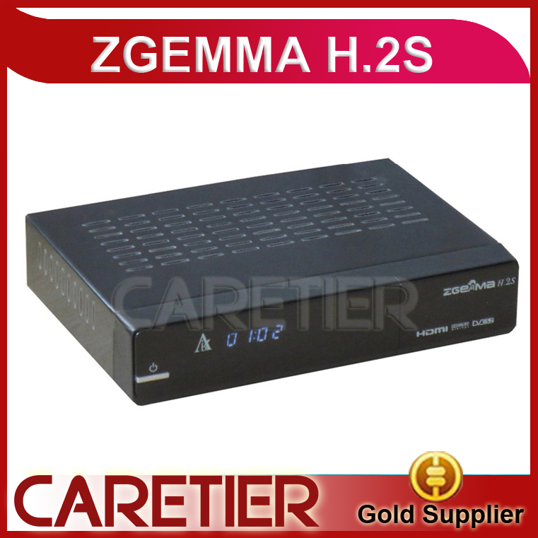 20pc/lot DVB S/S2 twin tuner enigma 2 Linux fastest running ZGEMMA H.2S Satellite tv receiver support world tv receiver by fedex(China (Mainland))