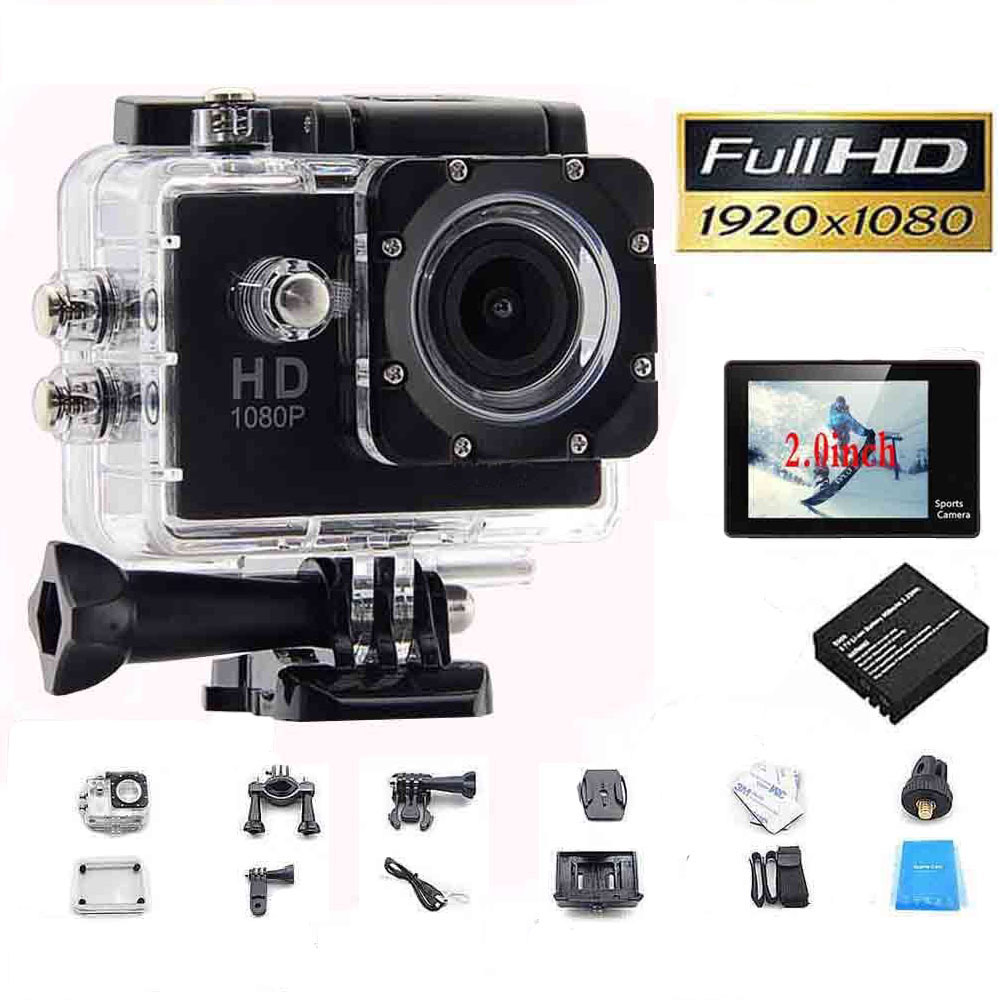 1080p full hd video action sport mini camera waterproof case dv water resistant cam underwater. Black Bedroom Furniture Sets. Home Design Ideas
