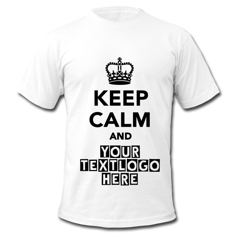 2014 customize t shirt printed keep calm and your own text Printing your own t shirts