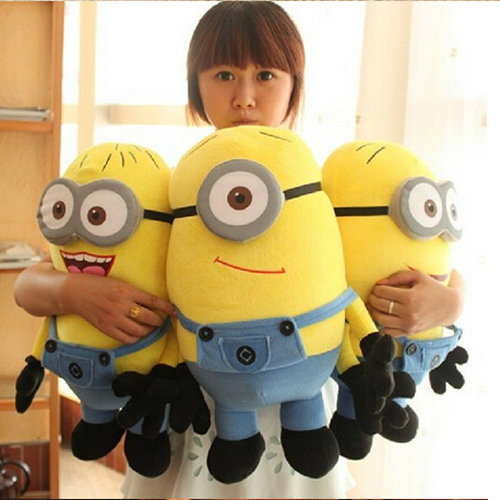 3PCS/Lot New Arrival Lovely Boy's Girl's Kids Despicable ME Movie Plush Toy 18cm Minion Jorge Stewart Dave Free & Drop Shipping(China (Mainland))