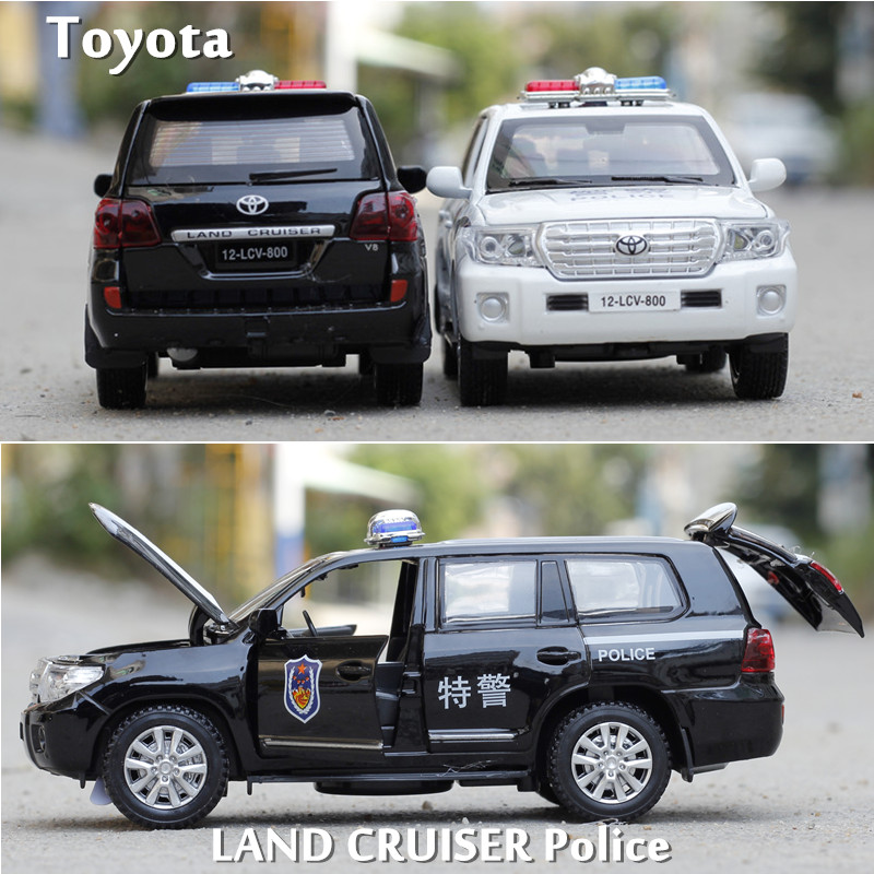 1:32 creative Volkswagen toyota police toy car SUV car patrol wagon alloy model acousto-optic pull back car model game toy Gift(China (Mainland))