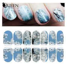 Landscape Nail Art Sticker Decal,12sheet Luminous Nail Tips Decorations New Arrive,DIY Beauty Nail Wraps Supplies,Free Shipping