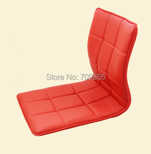 4pcs lot zaisu chair red leather asian traditional for Asian floor chair
