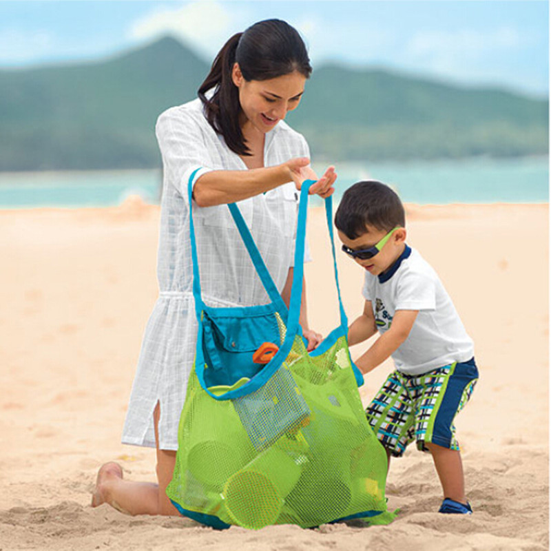 Sand Beach Bags Sand Away Collection Toy Bag Storage For Sea Shell Kids Children Tote Organizer Mommy's Helper 45*30*45cm(China (Mainland))