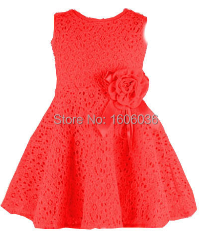 2015 lace casual dress lovely little party dress baby girl flower dress children clothes Hot Sale New 2015 Kids girls dress(China (Mainland))