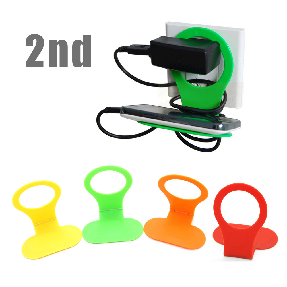 New 2nd generation Portable Foldable Mobile Cell Phone MP3 Charge Charging Wall Holder Stand Cradle(China (Mainland))