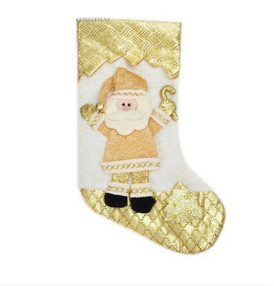 2016 New Style Cartoon pattern Cartoon pattern 2 kinds for kids chrismas decoration Santa Claus pattern stockings Large size(China (Mainland))