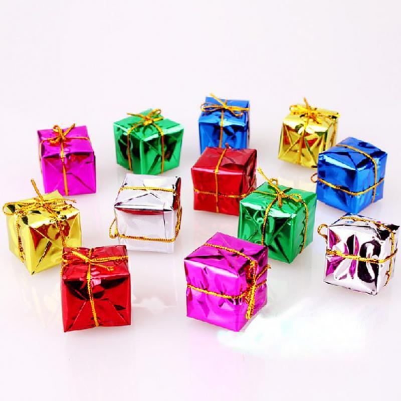 Pcs lot christmas ornament colorful mini gift box