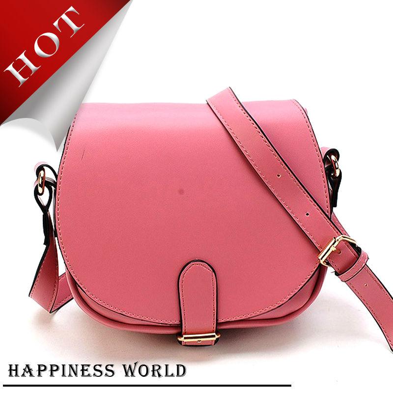2015 Popular Girls Cute Satchel Bags ,Pink/Apple Green Single-Shoulder bag ,PU Leather Discount handbag(China (Mainland))