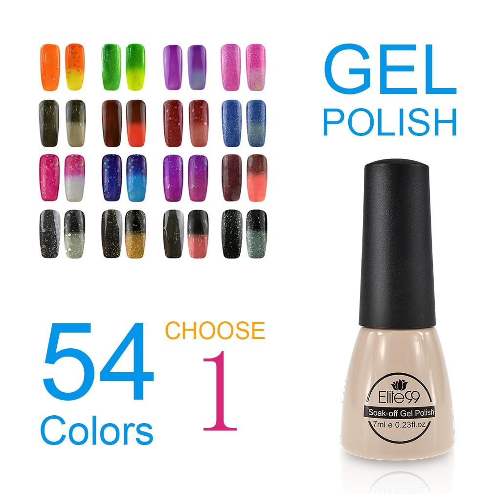 Elite99 UV Gel Color Polish Thermal Change Color Gel Polish Coating Layer on The Warm Fingers Nail Pick Any 1 Nail Lacquer Gel(China (Mainland))