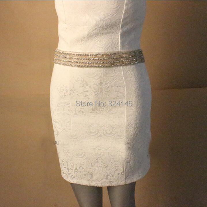 New Arrival 4 rows crystal bridal belt luxury rhinestone white ribbon belt jewelry fashion wedding dress belt accessories(China (Mainland))