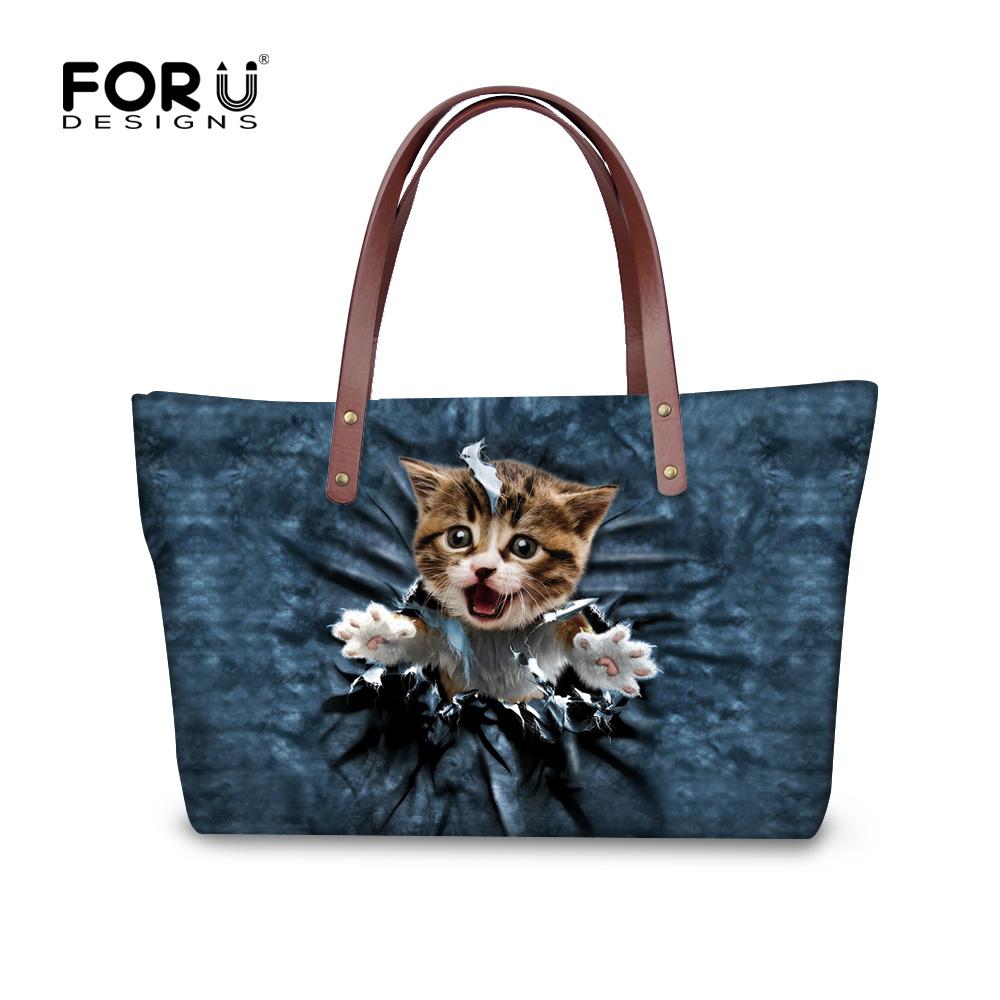 2016 New Leaisure Ladies Handbags Cute Cat Women Messenger Bags Luxury Large Tote Shoulder Bag Shopping Satchel Bolsas Femininas(China (Mainland))