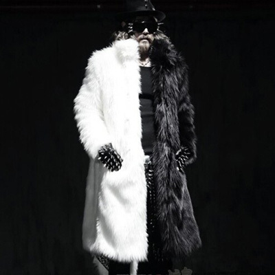 Мужская ветровка Men's fur coat Faux 2015 Plue XXXL 4XL Thick Fur faux fur coat