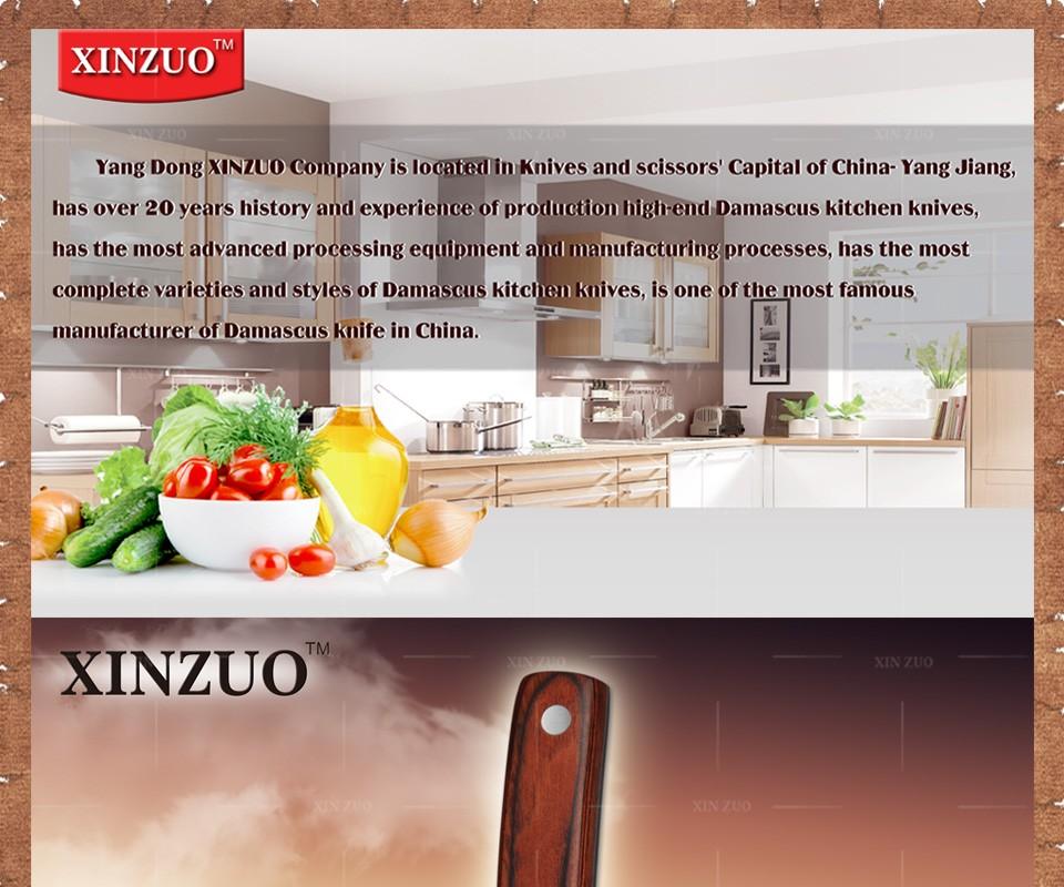 "Buy 2016 XINZUO 3.5"" inch fruit knife Damascus kitchen knife surper sharp paring knife utility knife wood handle FREE SHIPPING cheap"