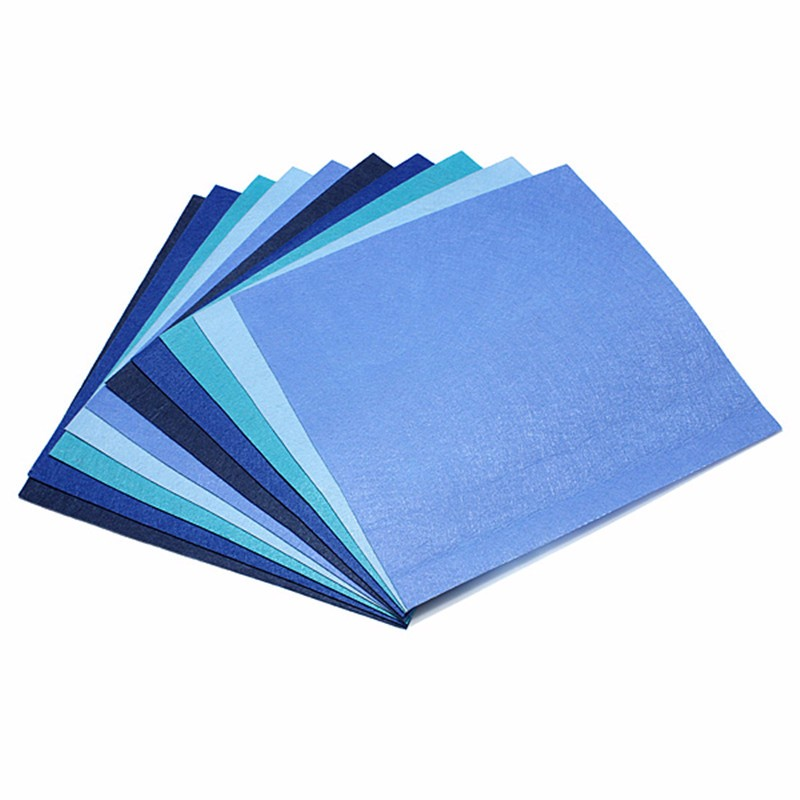 10pcs A4 Size Blue Color Felt Wool Art Handcraft Sewing Scrapbooking DIY Fabric For Home Garden Handmade Accessories New(China (Mainland))