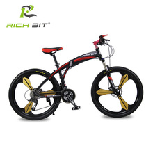 Richbit High Quality Aluminum Folding Bicycle 27 speeds Mountain Bike Dual Disc Brakes Variable Speeds Road Bike Racing Bicycle(China (Mainland))