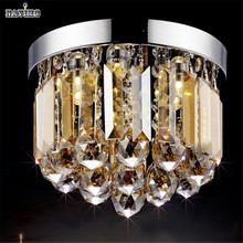 LED Lustre Crystal Chandelier Gold Transparent Cristal Diamond Ball Lamp Lighting Fixture For Corridor Basements Light(China (Mainland))