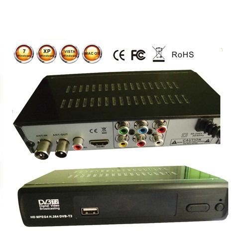 New DVB T2 DVB-T Set Top TV Box 1080P TV tuner Full HD Digital MPEG4 DVB-T2 DVB T/H.264 Terrestrial TV Receiver w/ RCA / HDMI(China (Mainland))
