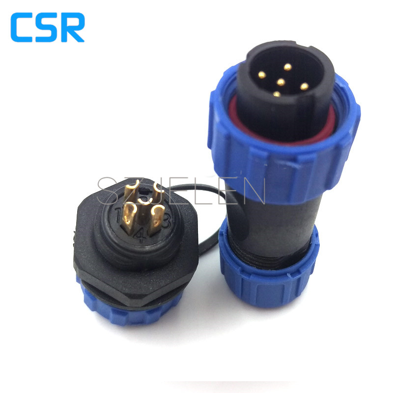 SP1310, 5 pin waterproof connector, Power wire connectors, cable connectors, automotive connectors, 5 pin Plug socket,IP68(China (Mainland))