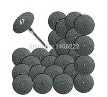 Fiberglass Reinforced Cut Off Wheel Disc w/ 2 Mandrel 1/8″ Fit Dremel Tool 25pcs