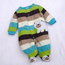 Hot Sale !Baby Toddler Romper Warm Hoodie Soft Cartoon Bodysuit Outfit Jumpsuit For Baby b7 SW005578(China (Mainland))