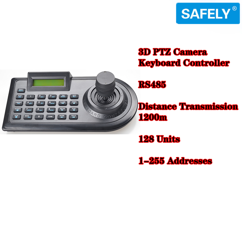 3D Joystick PTZ Camera Keyboard Controller RS485 PELCO-D/PELCO-P w/ LCD Display(China (Mainland))