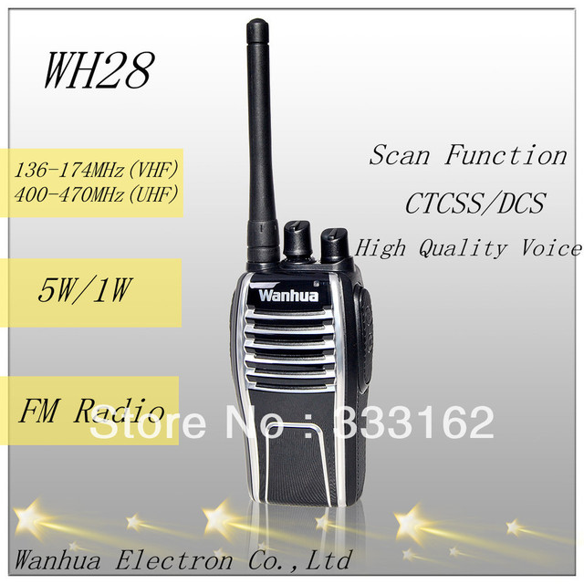 WH28 WanHua original creation designing patent two way radio, built-in CTCSS/DCS encode and decode solution