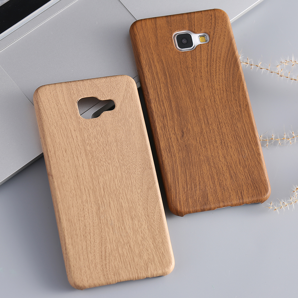 A7 2016 New Fashion Brown Wooden Pattern Soft Leather Case For Samsung Galaxy A7 A7100 Ultra Thin Bamboo Wood Phone Back Cover(China (Mainland))