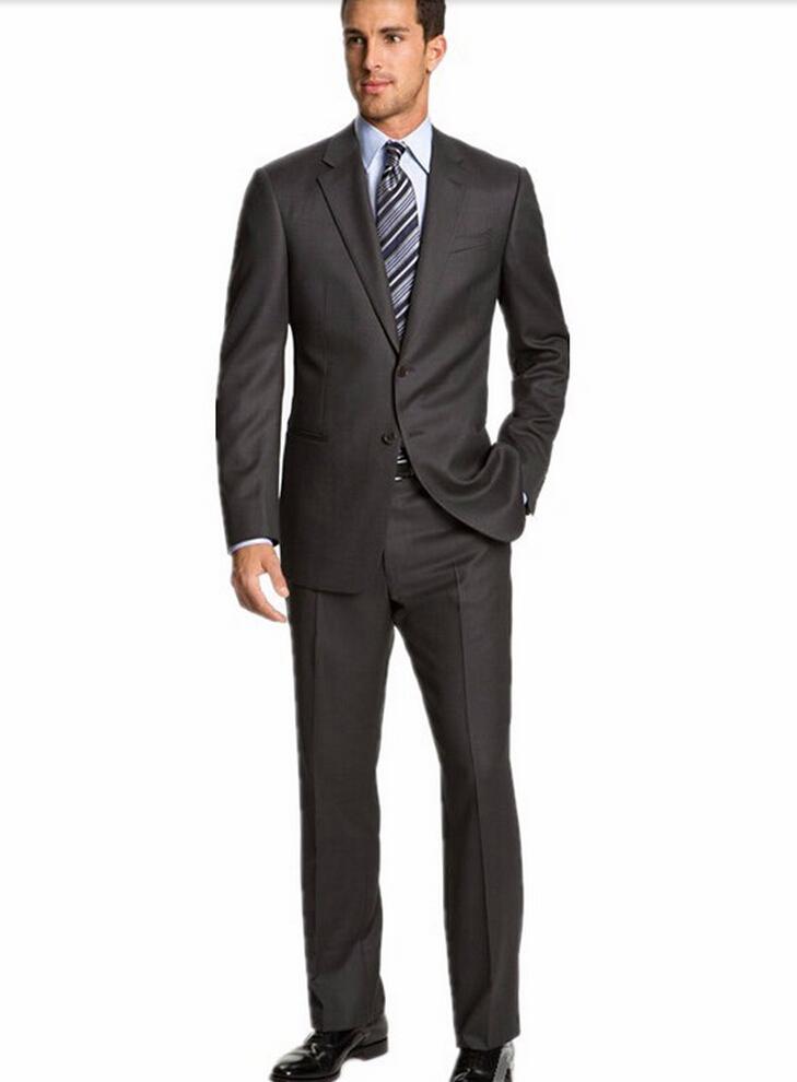 Custom Made Slim Fit Groom Tuxedos Side Slit Best Man Suit Wedding Groomsman Men's Suits Bridegroom (Jacket+Pants+Tie )