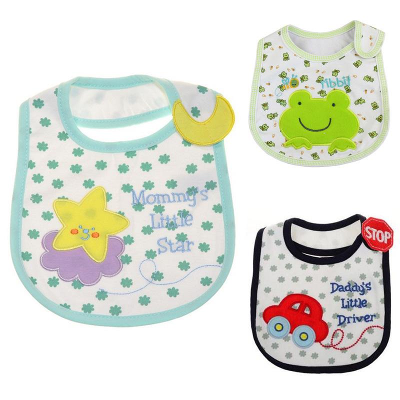 3pcs lot Baby Bibs carters towel Waterproof cotton Children infant saliva towels carter s girls boys