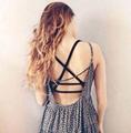 New Sexy Women Lady Girls Strappy Bandage Summer Bra Tube Tops Shirt Vest Gallus Bustier Beach