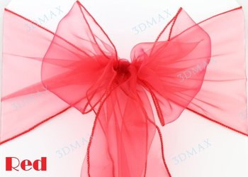 """2014 hot selling  50 Pieces New red 7""""x108"""" Organza Chair cover  Wedding Party  Decorations . Free Shipping"""