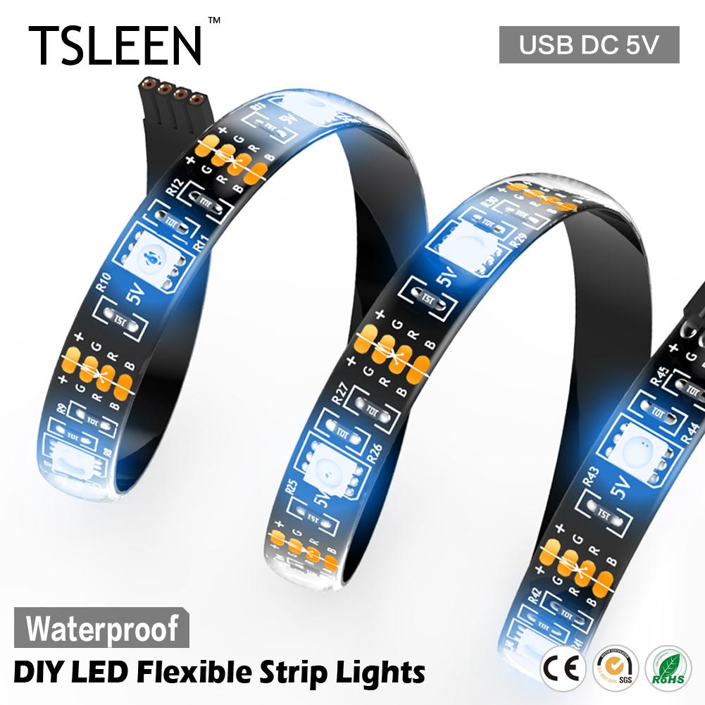 TSLEEN Free combination COLORFUL LCD DISPLAY KTV BAR 5050 SMD WATERPROOF RGB DIY LED STRIP LIGHTS 5V MINI/REMOTE CONTROLLER(China (Mainland))