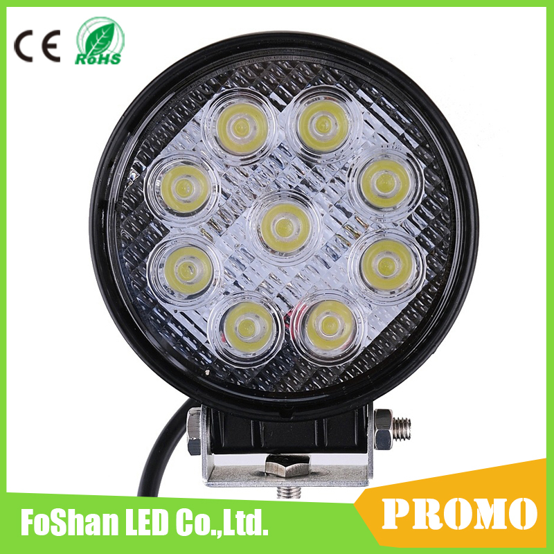 27W LED Work Light Offroad 12V Flood Spot Beam Combo Lights For 4x4 Off Road Atv Truck Boat 4WD Utv Tractor Driving Car Lamp(China (Mainland))