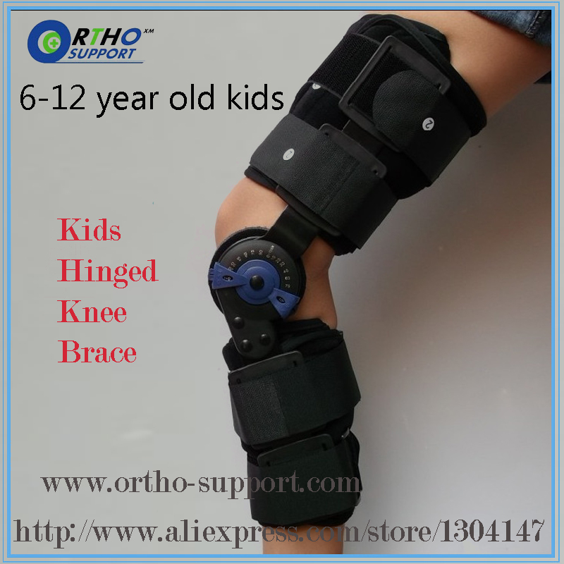 Kids Post Op Hinged Knee Braces ROM Medical Osteoarthritic Knee Support For Children With Lock For Walking Laying And Sports(China (Mainland))