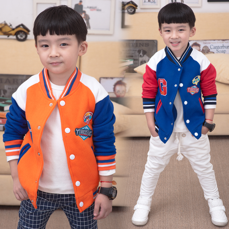 Children hoodies kids 2015 autumn and winter sweatshirt boys girls child fleece baseball uniform V-neck outerwear(China (Mainland))