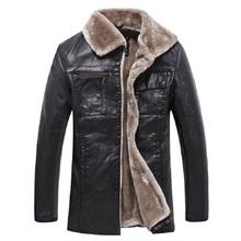 Men Fashion Leather Jacket Fur Collar Short Paragraph Slim Large Size Warm Winter Jacket Men Leather Jacket Coat Brand New(China (Mainland))