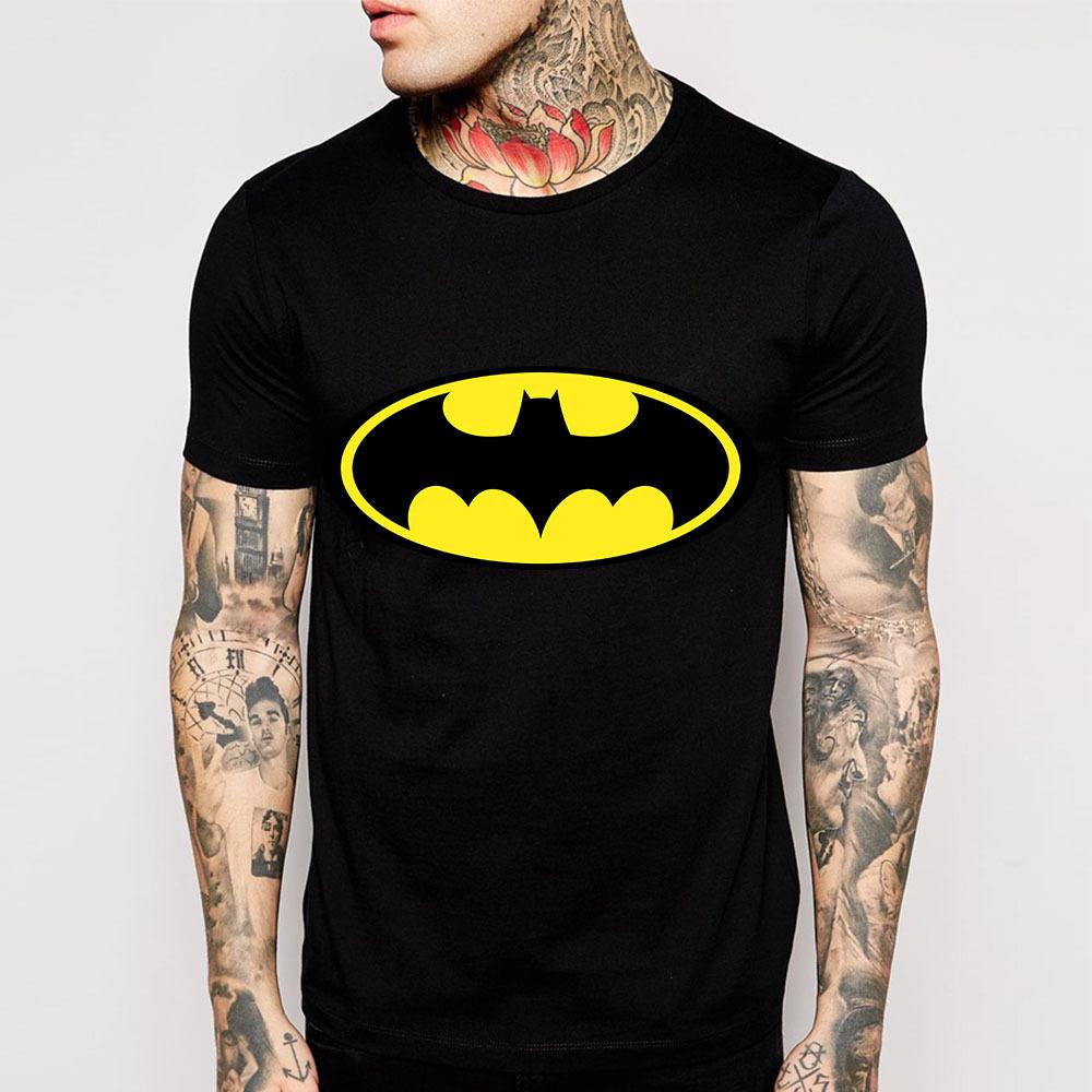 New fashion cartoon batman t shirts men o neck short for New fashion t shirt man