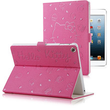 Cute Hello Kitty Stand Magnetic Smart Tablet Case Cover For Apple iPad Air 2 Ipad 6 Case Cover Girl Kids Gift Stylus Pen(China (Mainland))