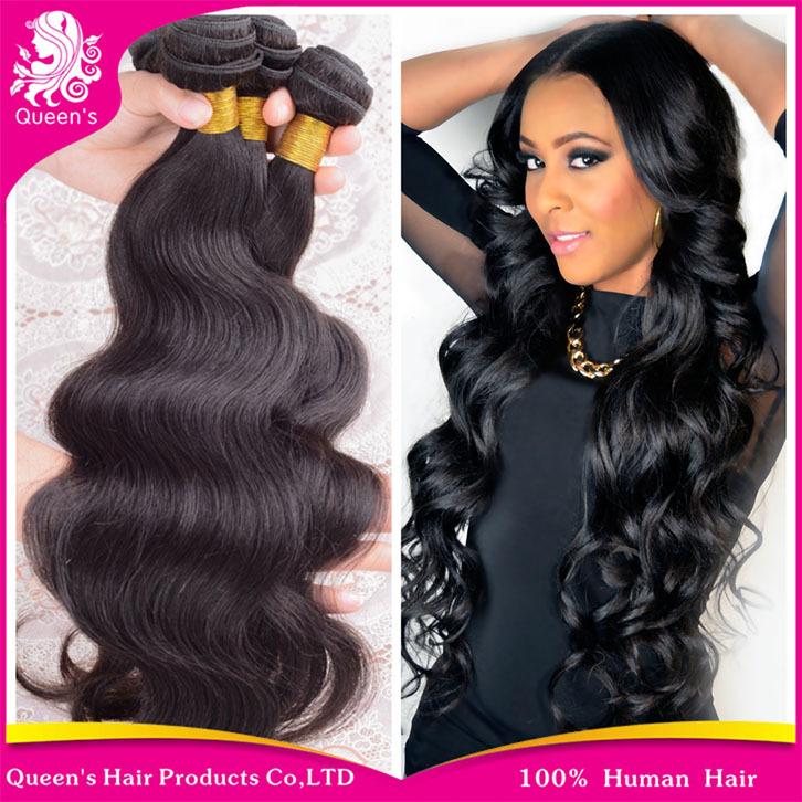 "Queen hair products 6A malaysian body wave 3pcs/lot 8-30""malaysian virgin hair free ship human hair weave no tangle no shedding(China (Mainland))"