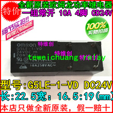 Buy , 10PCS new original power relay G5LE-1-VD-24V group normally open 10A 4J feet for $9.00 in AliExpress store