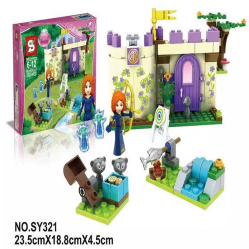 155PCS SY321 Building Block Disn Princess Merida's Highland Games Friends Minifigures Girls Toys Children Compatible With Legoed(China (Mainland))