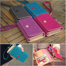 Lady Girl PU Leather Coin Card Zipper Wallet Purse Phone Bag Case Cover For Blackberry Apollo 9360/ Style 9670/ 9720 9860(China (Mainland))